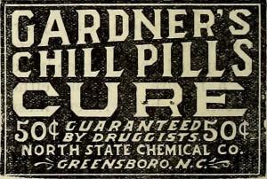 Gardner's Chill Pill Cure Ad