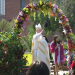 Archbishop Jose Gomez of Roman Catholic Diocese of Los Angeles blesses the animals on Saturday before Easter.